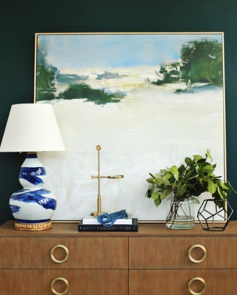 Hunter Green Accent wall