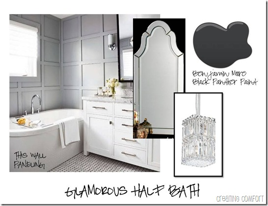 Glamorous Half Bathroom