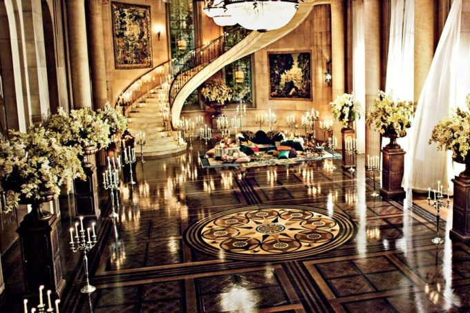 Inside the Great Gatsby Art Deco Design Brooklyn Berry  : item1size00great gatsby movie set design 02 gatsby mansion ballroom from brooklynberrydesigns.com size 900 x 600 jpeg 218kB