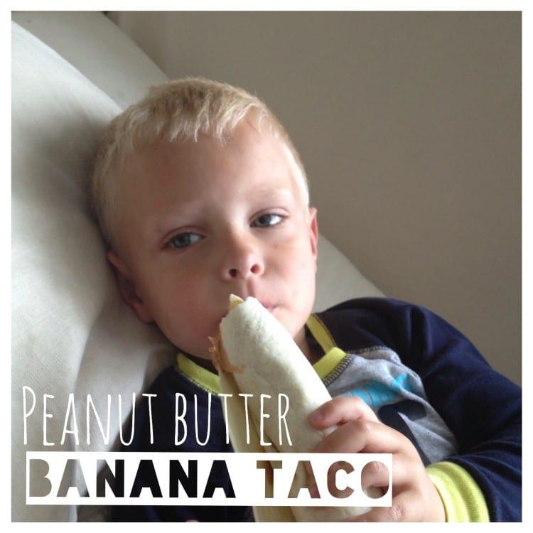peanut butter banana taco