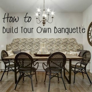 How To Build A Dining Room Banquette