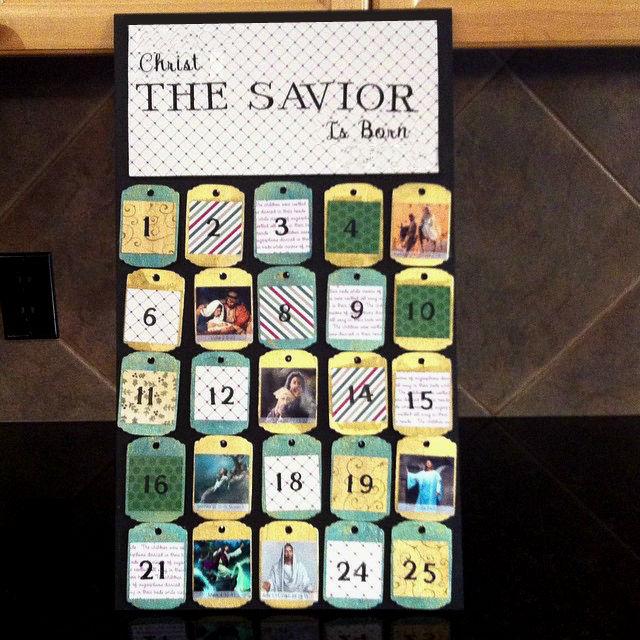 Wooden Scripture Advent Calendar
