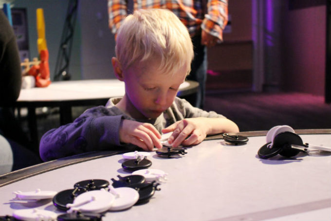 kid at Telus Spark Science Centre