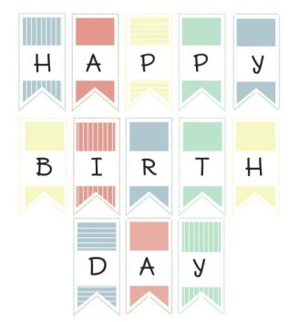 Happy Birthday Banner Printable