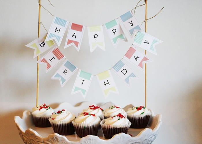 Printable Birthday Cake Banner Brooklyn Berry Designs