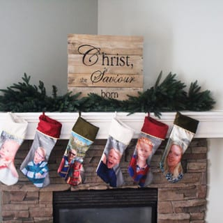 Christmas Mantle – Photo Stockings