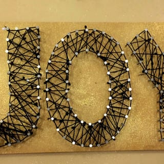 Diy Project: JOY String Art