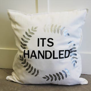 DIY Quote Pillow #SecretCricutSanta