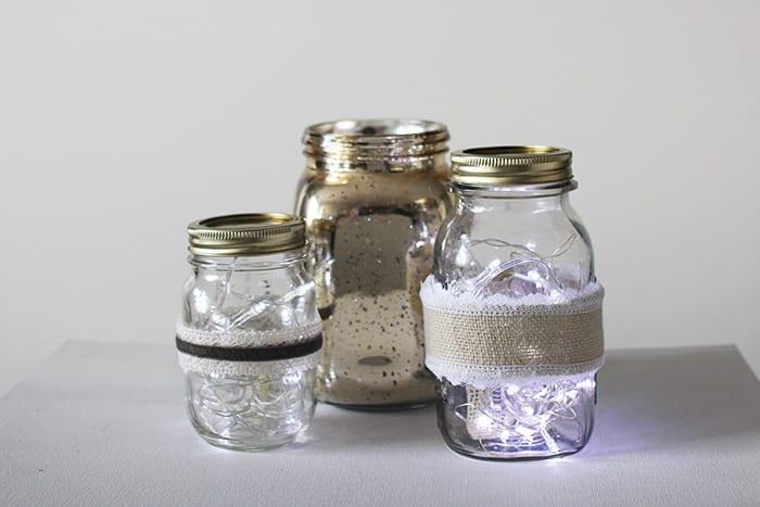 Mason Jar Fairy Lights via Brooklyn Berry Designs