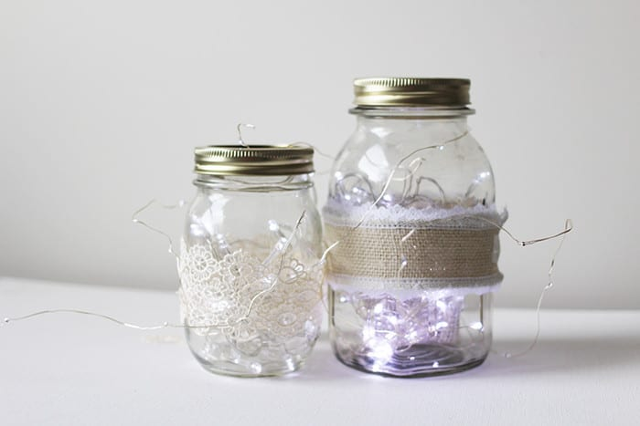 Mason Jar Fairy Lights via Brooklyn Berry Designs