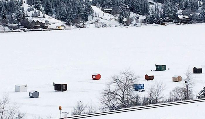 Ice Fishing in Invermere, British Columbia