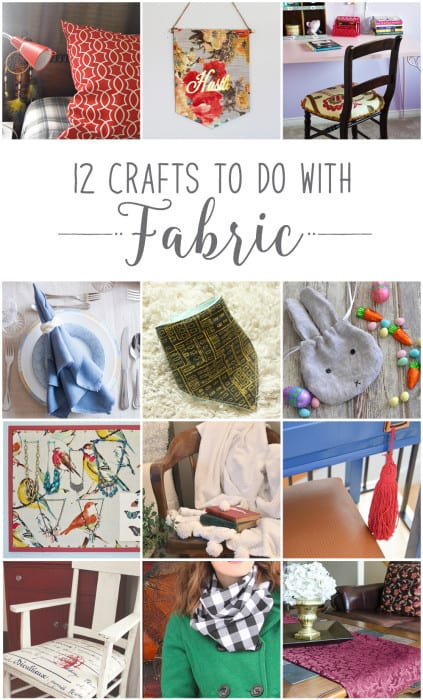 #12MonthsofDIY #February-Fabric DIY-Craft-Ideas
