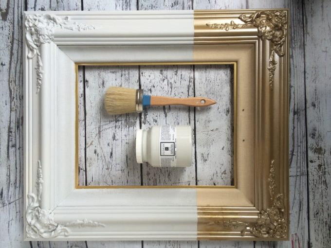 Paint Dipped Frame With Vintage Art
