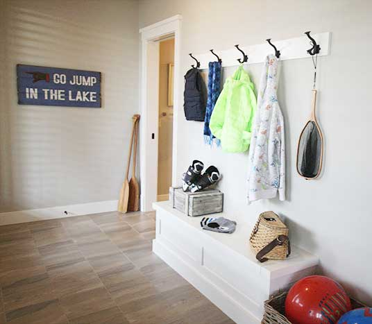 Luxury Lake House storage lake entry