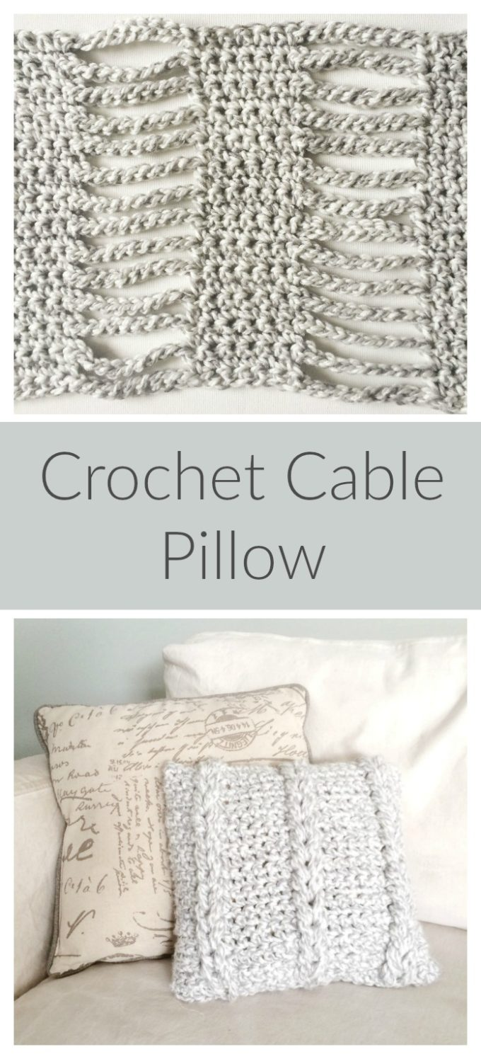 Crochet Cable Pillow