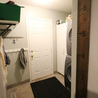 My House: The Laundry / Garage Door Before