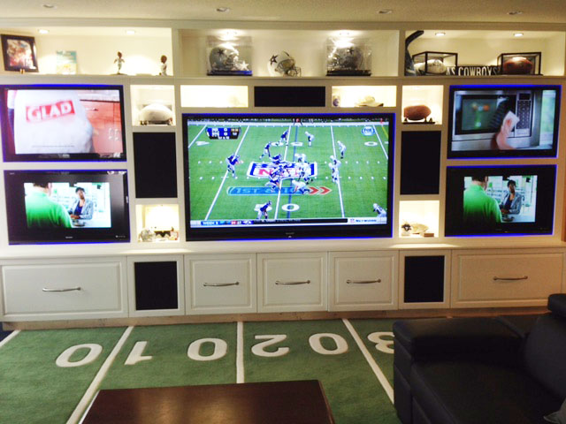 Man Cave - yardline carpet