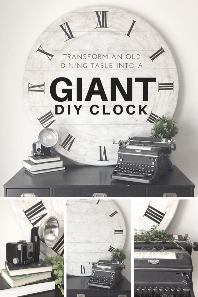 Diy giant clock an upcycle challenge brooklyn berry for Whatever clock diy