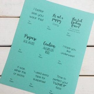 15+ Free Printable Gift Tags