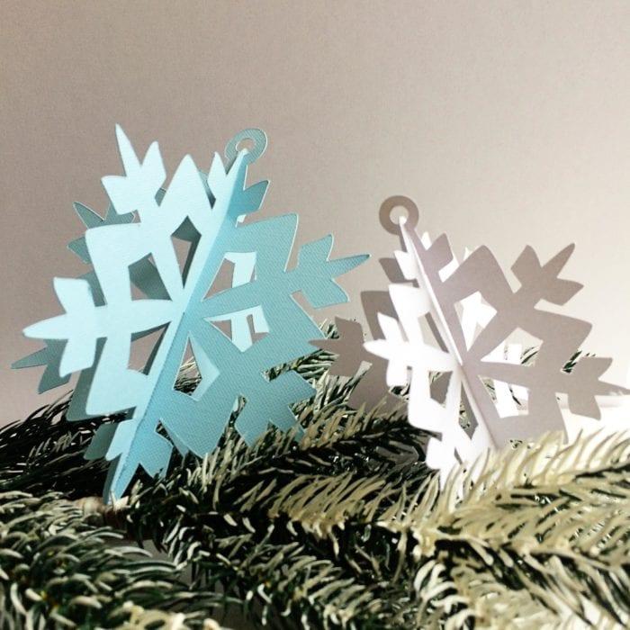 Handmade 3D Snowflake Ornaments