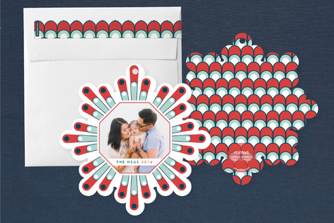 custom shape Family Christmas Cards