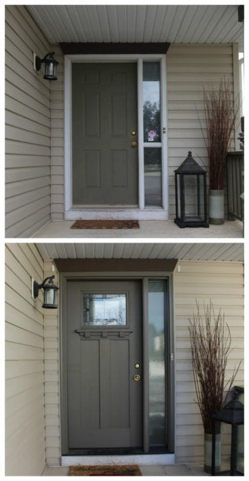 Before After Front Door