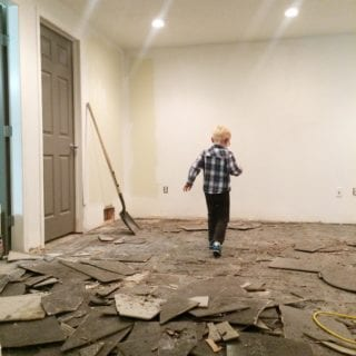 Our Basement – How To Remove Tile From Concrete