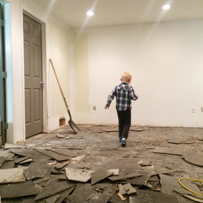 Basement flooring demolition how to remove tile from concrete dailygadgetfo Images