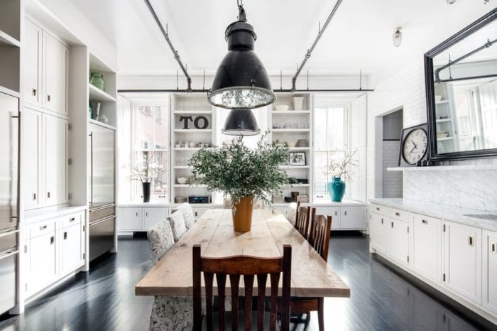 Renovated kitchen in Meg Ryans Soho Loft