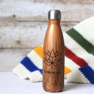 DIY Canada 150 Water Bottle #Canada150
