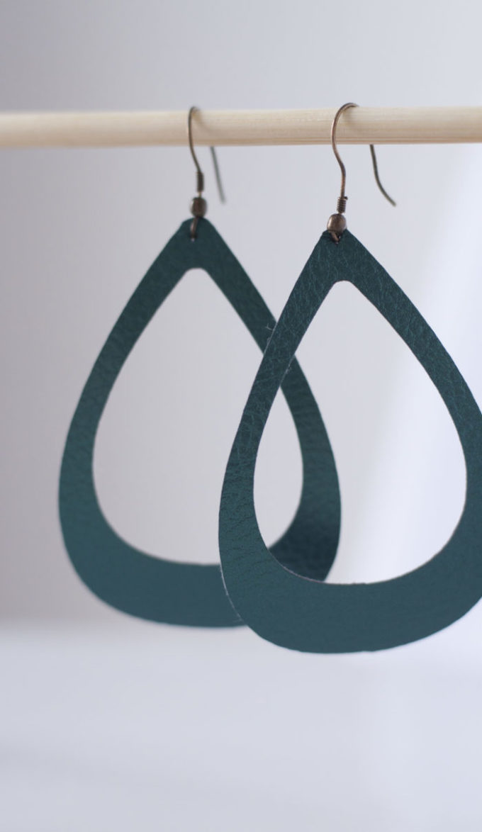 DIY Faux Leather Earrings - Brooklyn Berry Designs
