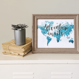 Adventure Awaits Free Printable For Boys Room