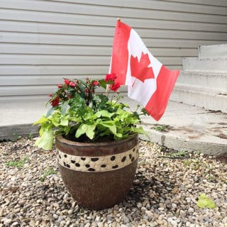 Canada Day Decor #CanadaDaycore