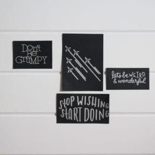 DIY Custom Art With Cricut Pens