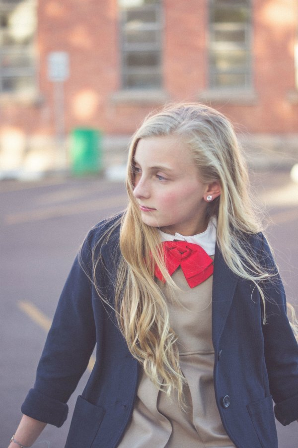 School Uniform Outfit Ideas - add a necktie