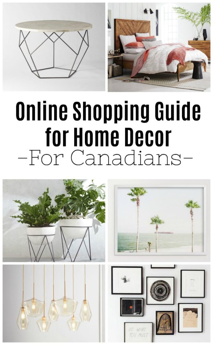 Where to buy furniture online canada for Canadian home decor stores