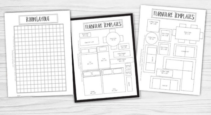 Printable furniture templates 1 4 scale furniture designs for Furniture templates for room design