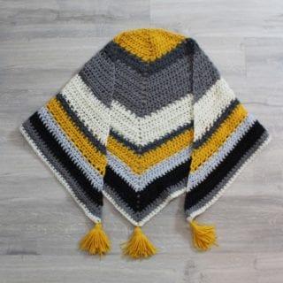 Oversized Crochet Triangle Scarf