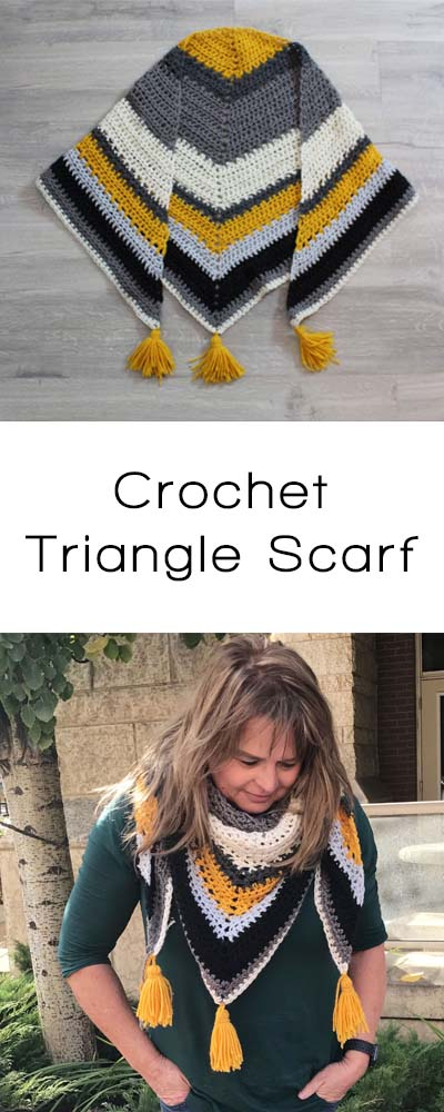 Oversized Crochet Triangle Scarf