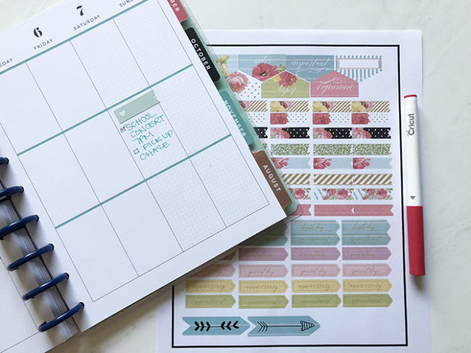 Make Your Own Planner Stickers With Cricut Explore Brooklyn Berry