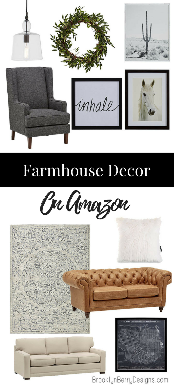 Farmhouse Decor Amazon - get the fixer upper style on a budget you can afford.