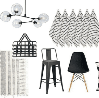 black and white home decor on amazon