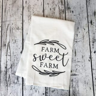 Farmhouse Style Flour Sack Tea Towel