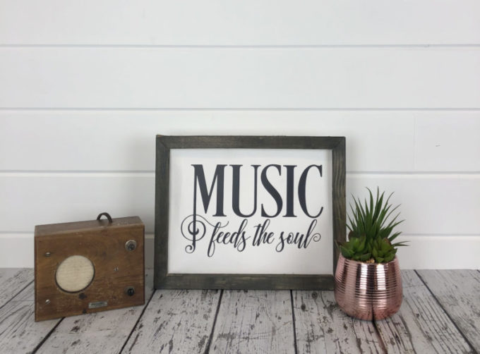 Reverse Canvas Sign