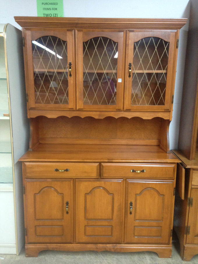 Budget Hutch Makeover before