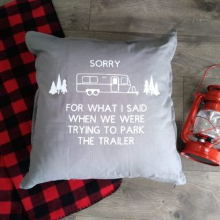Camping Inspired DIY Throw Pillow – Home Made Gift Ideas